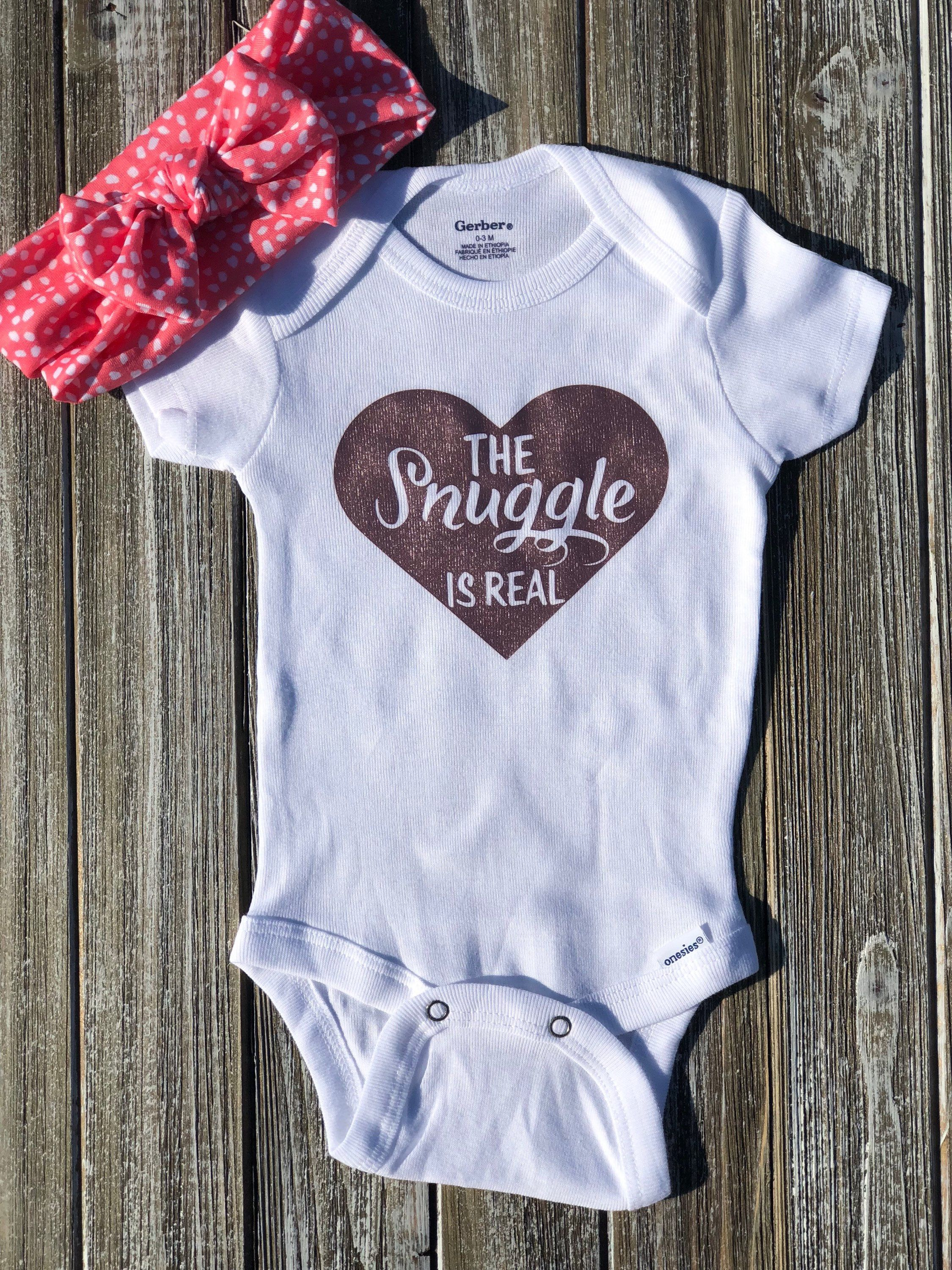 36bf640eb The Snuggle Is real, Heart, Rose Gold, Onesie 0-3 months. Great for Newborns