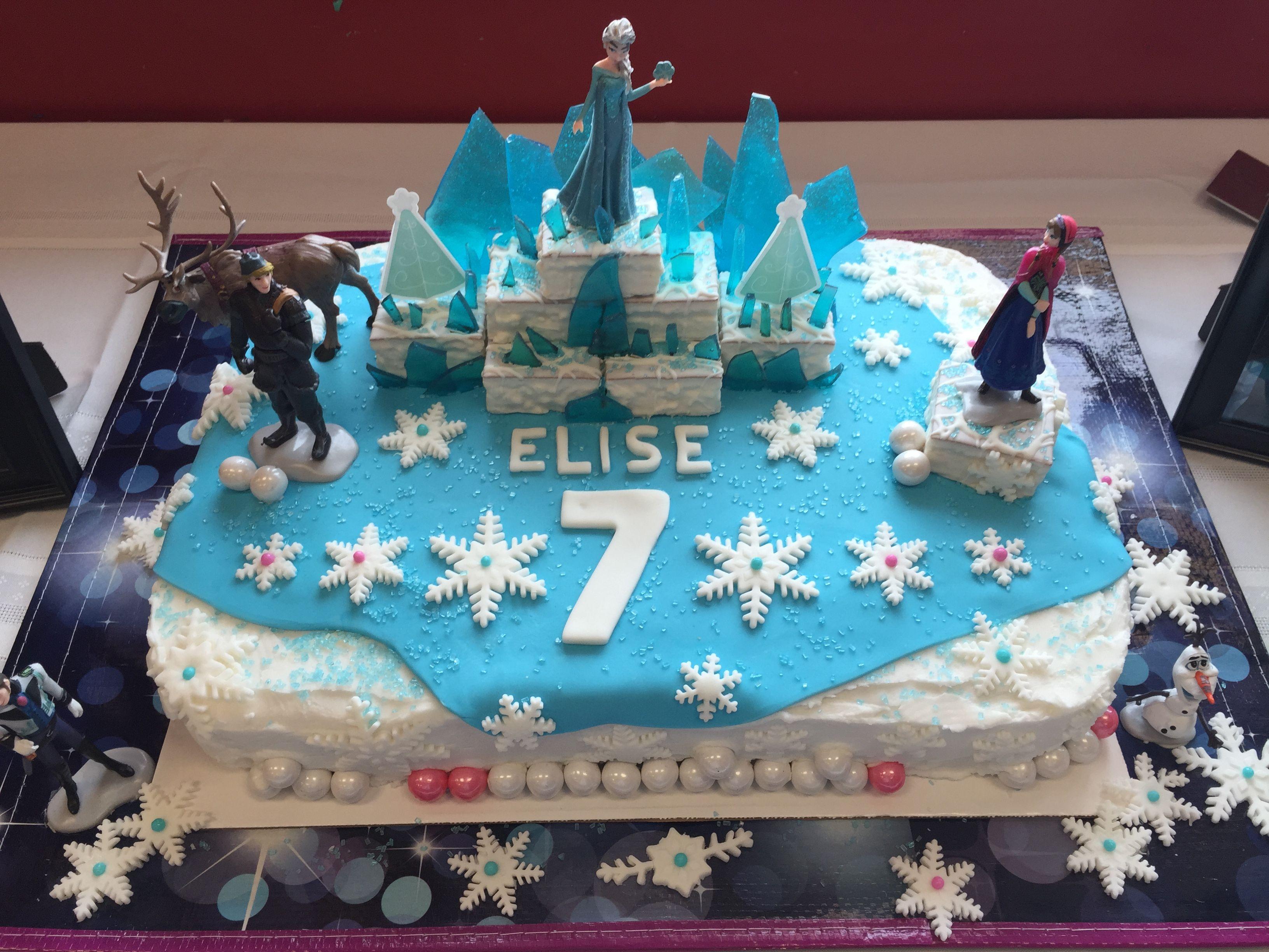 Disney Frozen 7th Birthday Cake sheet cake Entertaining Fun