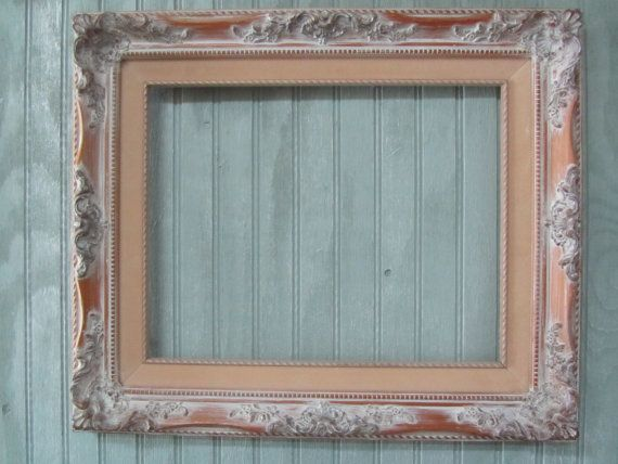 Shabby Chic Gallery Frame Measures 19 X 16 Outside 11 X 13 Inside