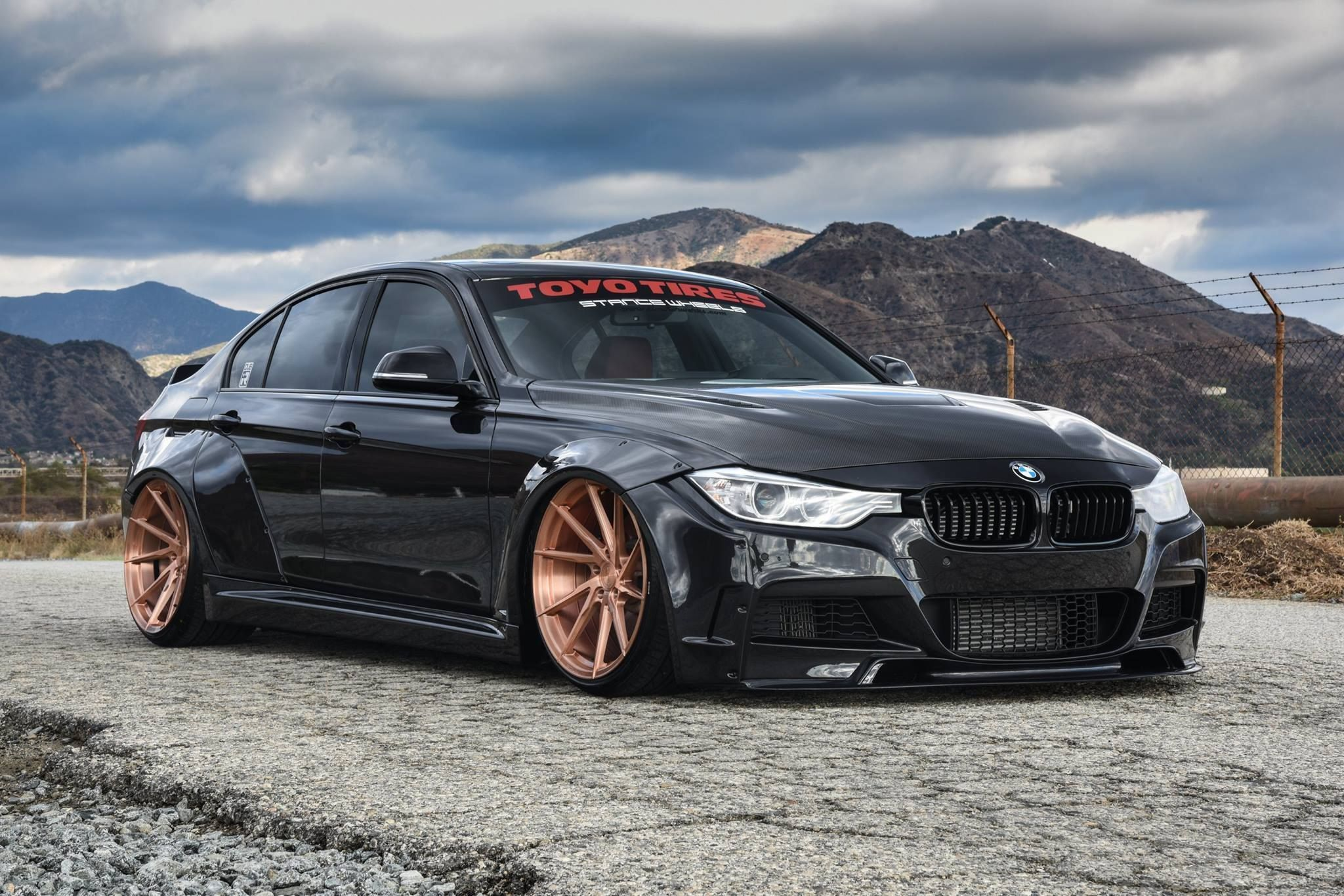 Gold Is The Matter Custom Black Stanced Bmw 3 Series On Gold Rims