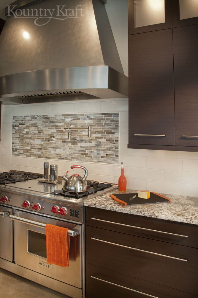 Custom Modern Wenge Cabinets For A Modern Style Kitchen In Vienna, Virginia  Designed By Amy Pasek Of Integrated Kitchens LLC.