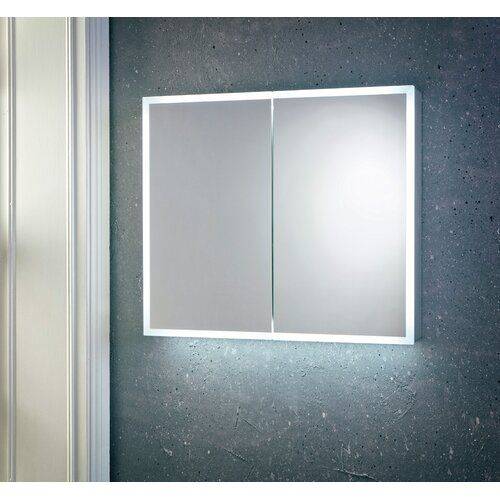 17 Stories Volusia Recessed Mirror Cabinet With Led Lighting