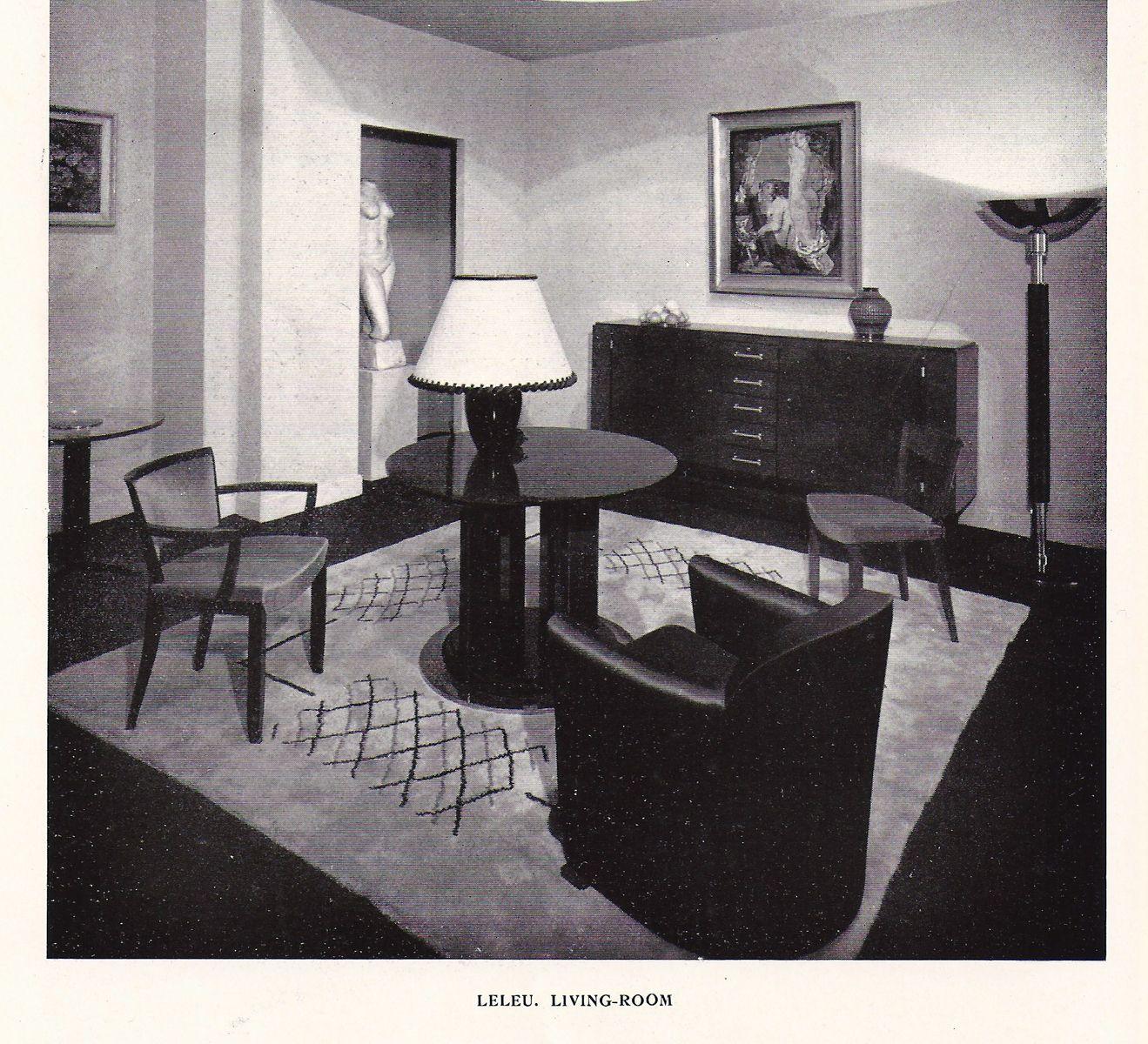 art deco furniturejules leleu | art deco interiors | pinterest