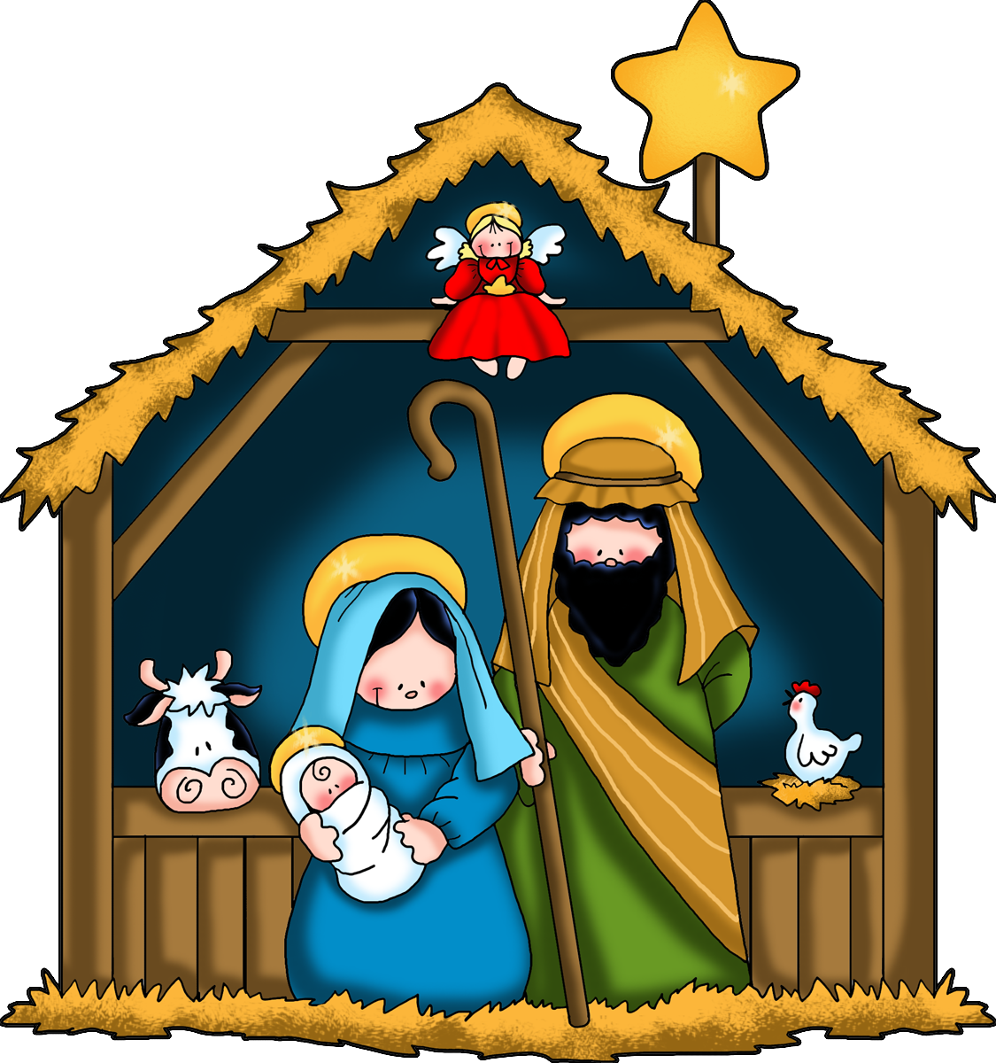 nativity children free clip
