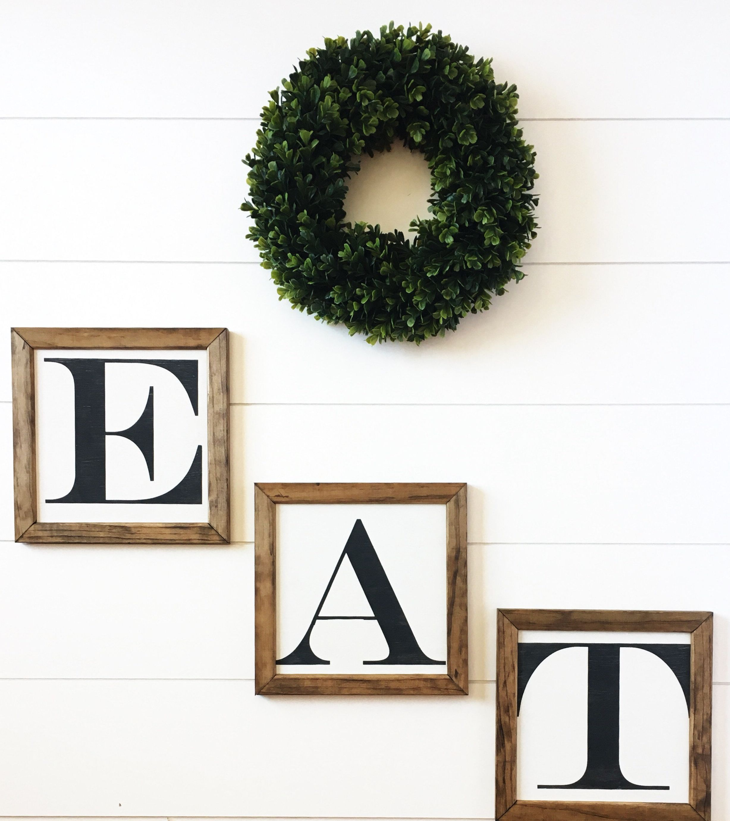Eat Sign Eat Letters Farmhouse Kitchen Wall Decor Kitchen Wall Art Kitchen Signs Rustic Home Decor Rustic Home Decor In 2019 Rustic Kitchen Wall Decor