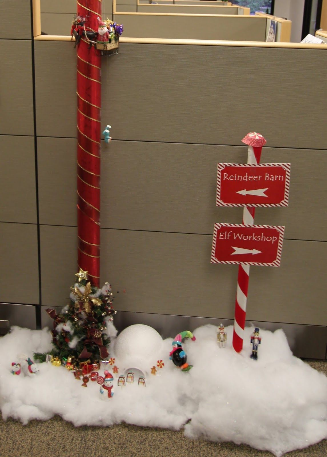 office xmas decoration ideas. The Office Holiday Pole Decorating Contest | Mid-century Modern Remodel Xmas Decoration Ideas