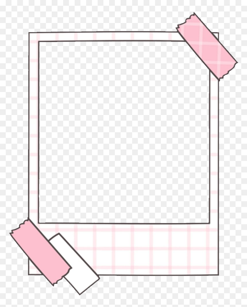 Browse And Download Aesthetic Polaroid Frame Transparent Cute Tumblr Transparent Frames Hd Png Download Pink Frame Png F Bingkai Polaroid Seni Buku Kartu