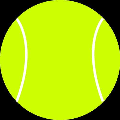 Tennis Ball Vector Drawing Bolas Tenis Bolitas