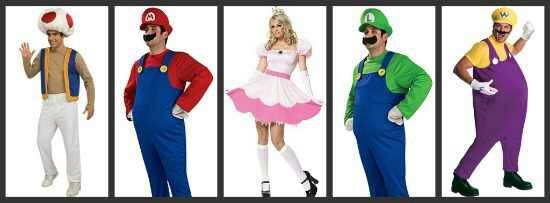 group halloween costume toad mario luigi wario could. Black Bedroom Furniture Sets. Home Design Ideas