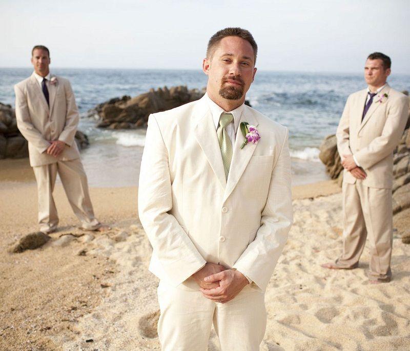 de1d0aaf8a Click to Buy << Latest Coat Pant Designs Champagne Linen Wedding Suits For  Men Casual Beach Tuxedo Groomsman Custom Terno 2 Piece Blazer Vestido  #Affiliate