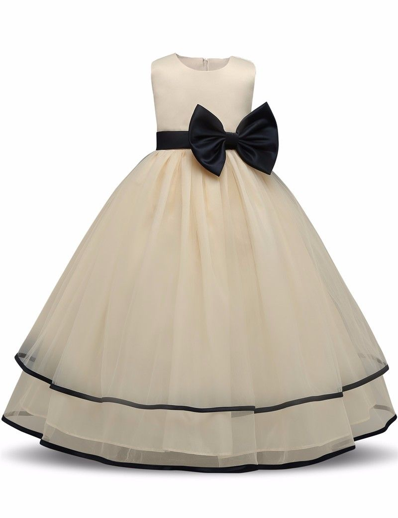 665002dc1f VanMe Children's Party Dress Big Bow Puffy Tulle Ball Gown 2017 ...