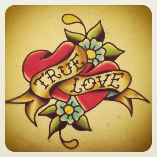 hearts true love romance valentines day True love tattoo