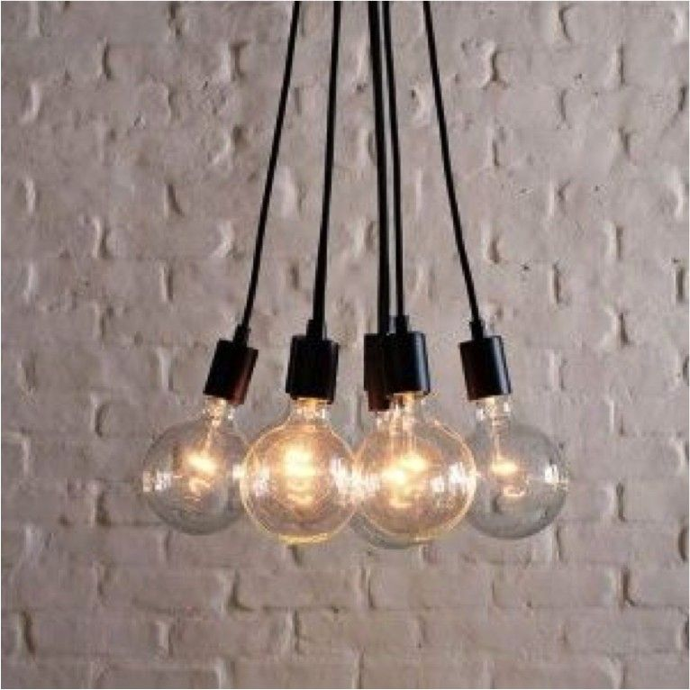 L mpara colgante de 6 sockets color negro y blanco - Fabrica tu lampara ...
