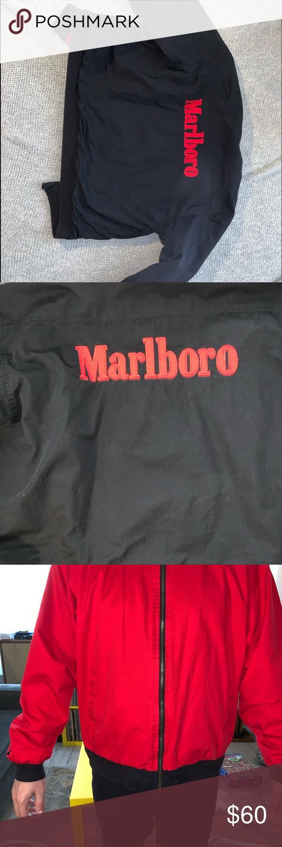 Vintage Marlboro Jacket Reversible Men S Xl Marlboro Jacket Jackets Mens Xl