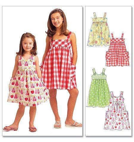 McCalls Schnittmuster M5613-CCE Mädchen-Kleid, Größe CCE (104-122 ...