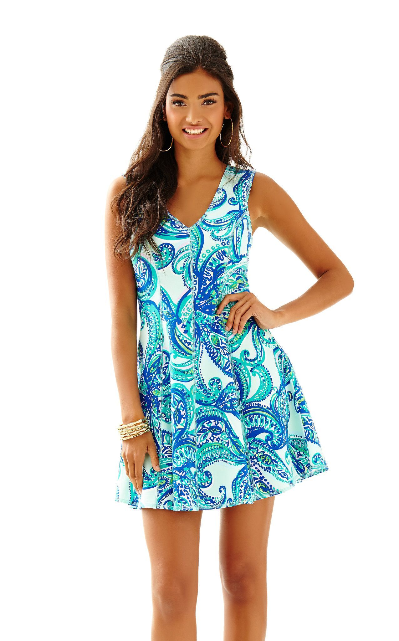 Lilly Pulitzer: Dahlia Dress Poolside Blue Keep It Current | Lily ...