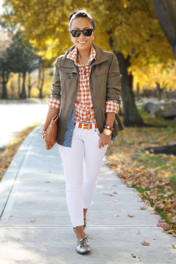 Orange + Khaki/Gray = awesome