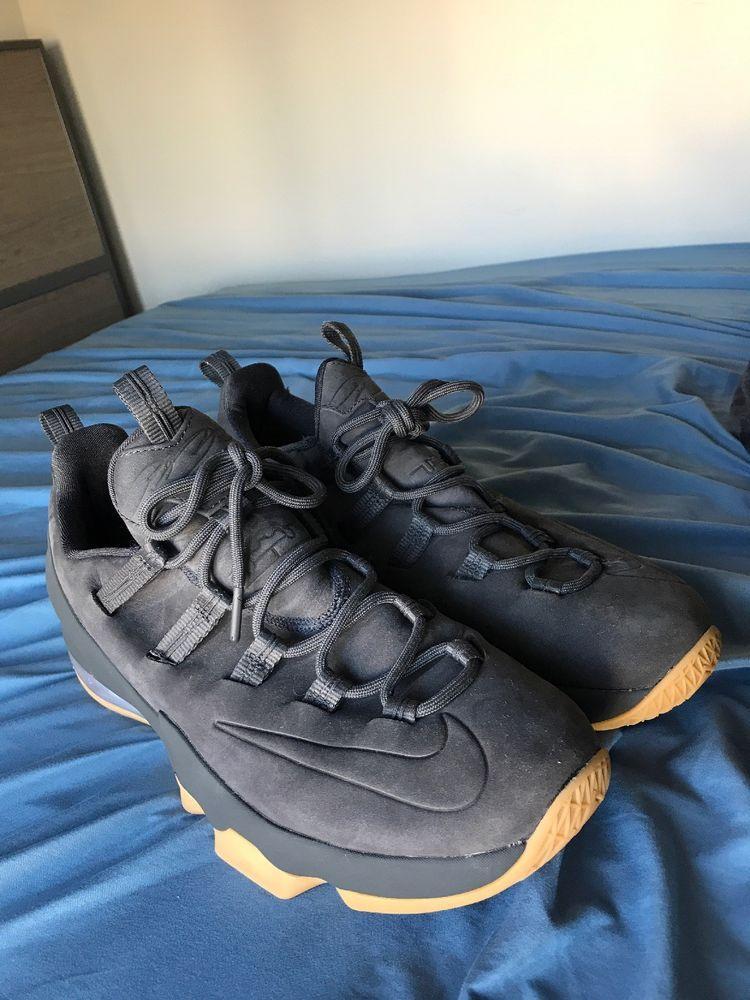 2132b22868b5 Nike Lebron James 13 XIII Low Premium PRM Anthracite Gum Ah8289-001 Black   fashion  clothing  shoes  accessories  mensshoes  athleticshoes (ebay link)