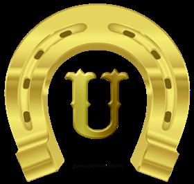 Alphabets By Monica Michielin Alfabeto Ferradura De Cavalo Dourado Em Png Golden Horseshoe Alphabet Png Golden Horseshoe Alphabet Horseshoe