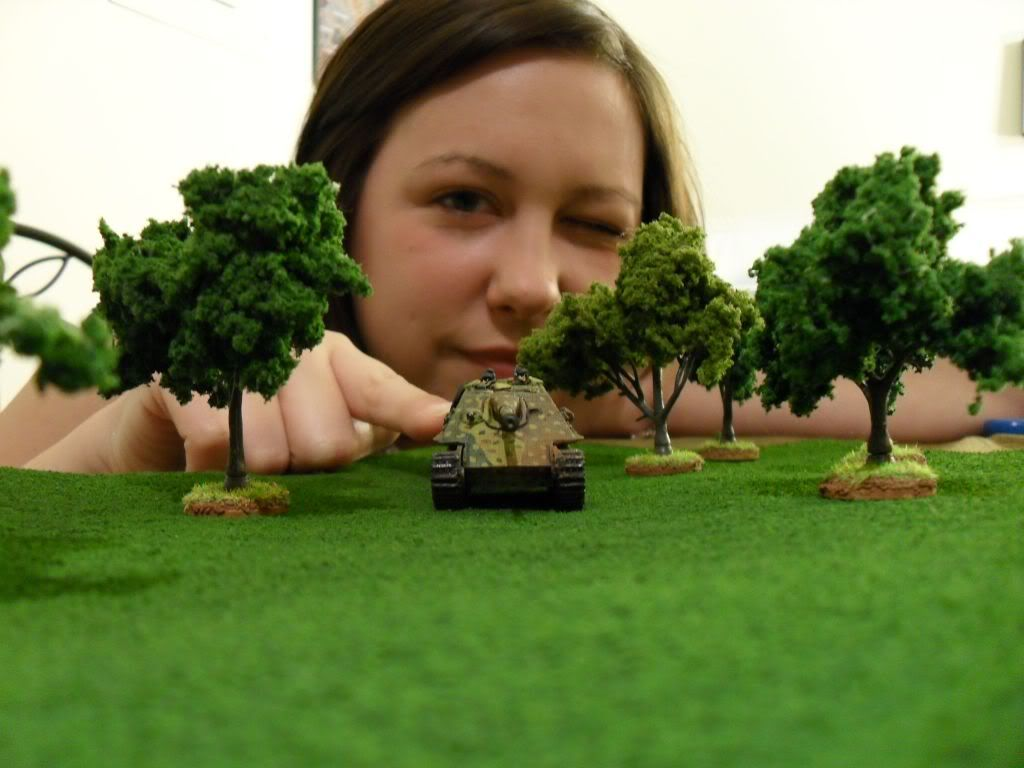 Make a forest or grass template for you miniature wargame