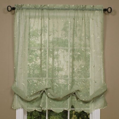 Diy Balloon Curtain Buy One Inexpensive Sheer Panel Sew Two Rows