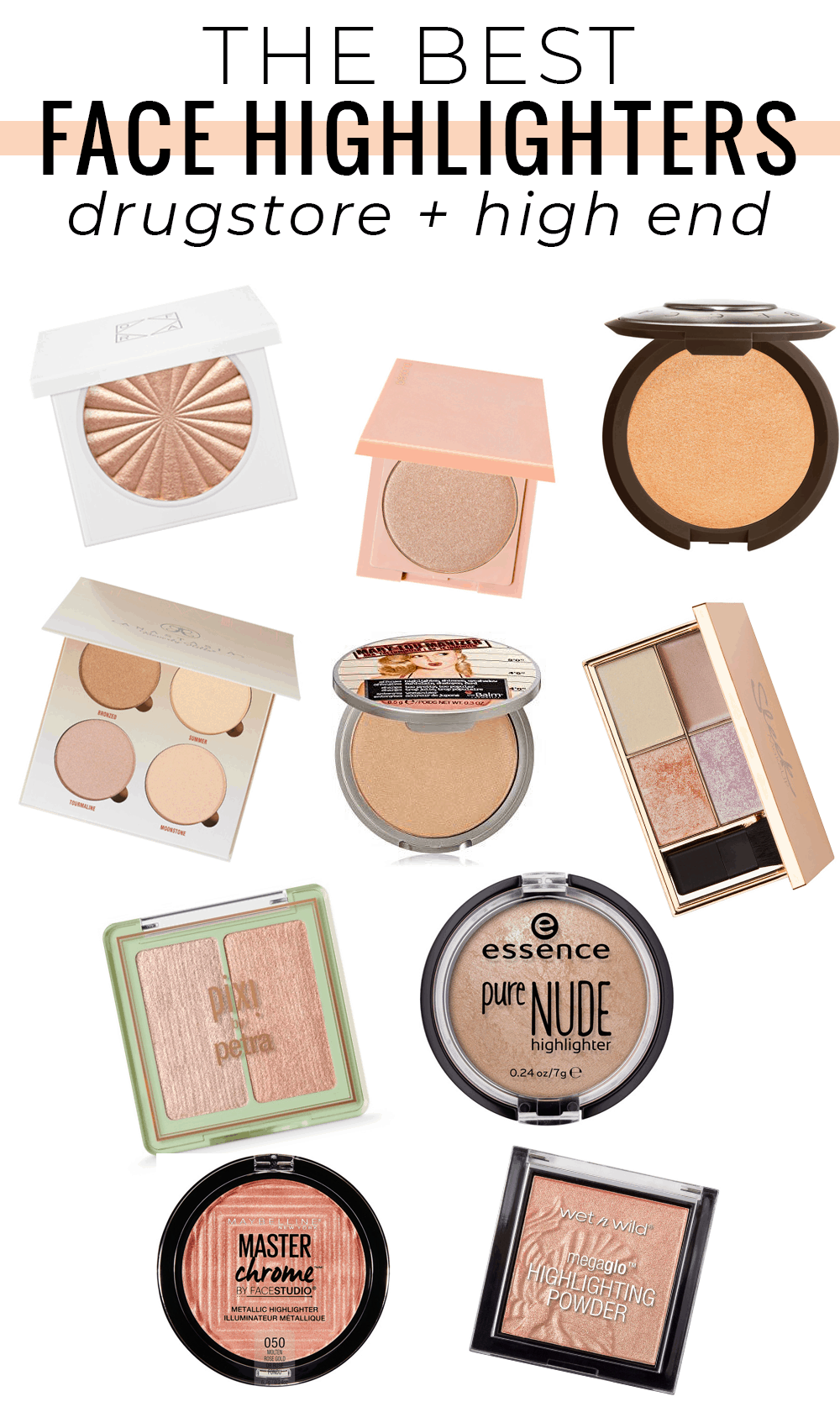 Best Face Highlighter Drugstore And High End Options In 2020 Best Face Highlighter Best Face Products Best Makeup Products