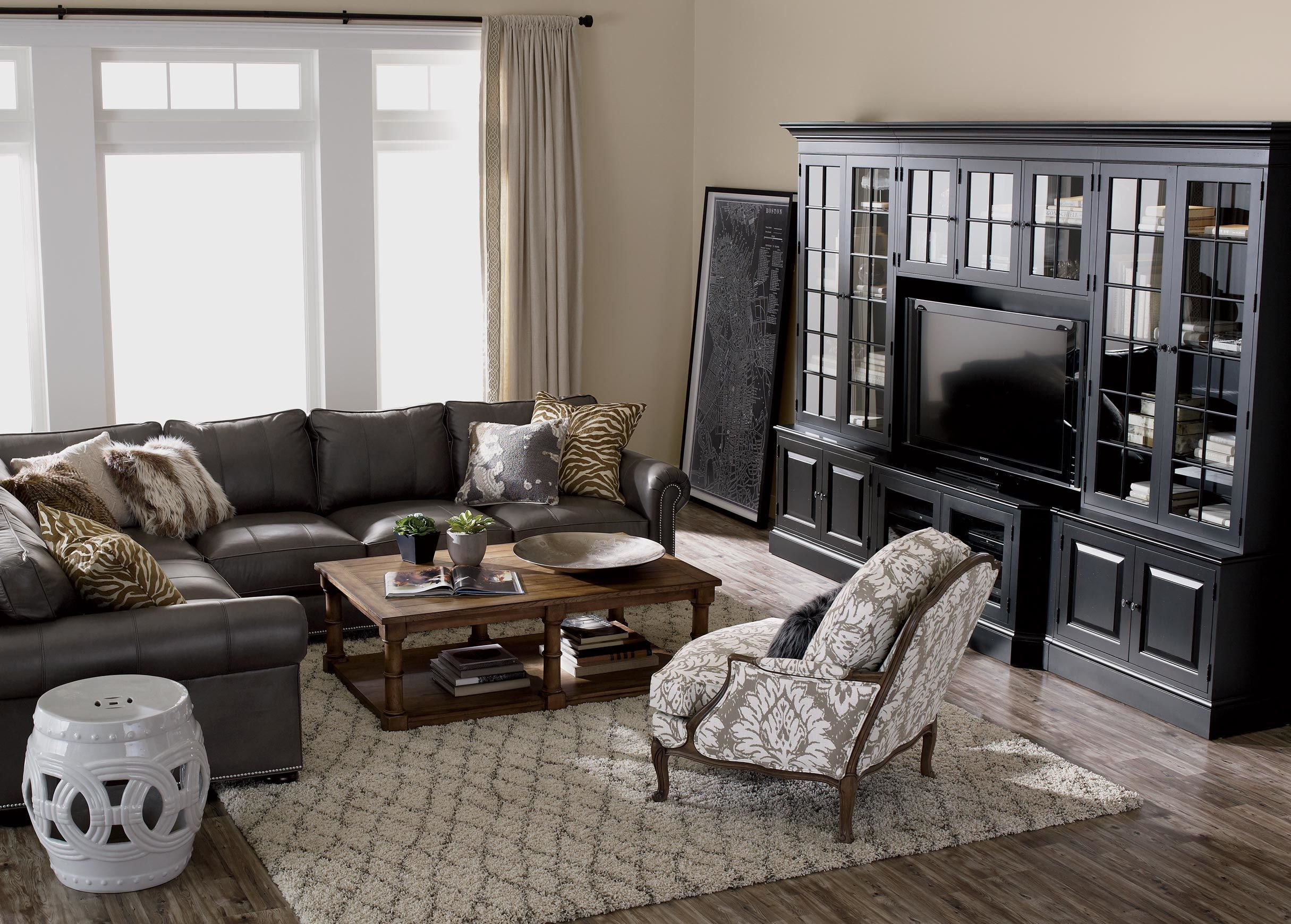 Shop Sectionals | Leather Living Room Sectionals | Ethan ...