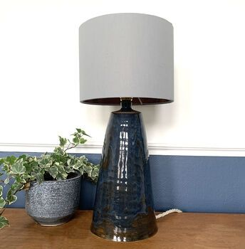 Conical Blue Bespoke Ceramic Table Lamp Base By Bymarie | notonthehighstreet.com