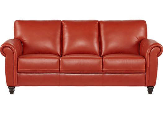 Shop for a Cindy Crawford Home Lusso Papaya Leather Sofa at Rooms To Go.  Find - Shop For A Cindy Crawford Home Lusso Papaya Leather Sofa At Rooms