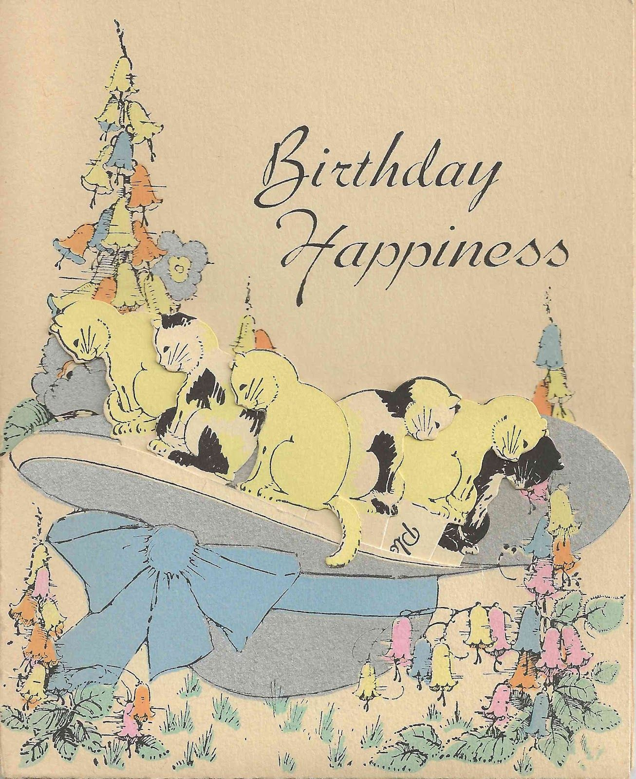 birthday cat ANIMAL Pinterest Birthday cats Vintage cards and