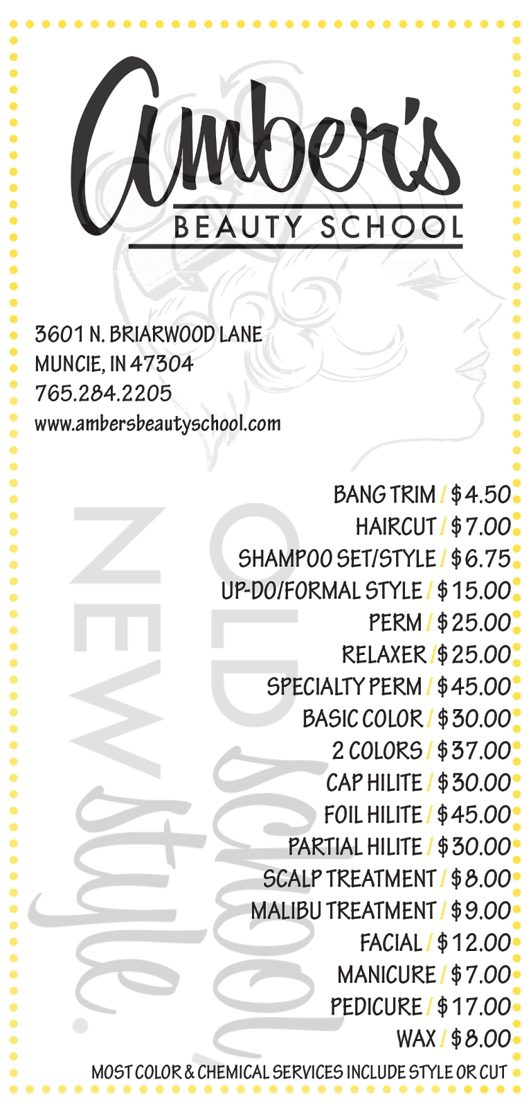 Call Us At 765 284 2205 To Schedule Your Appointment Today Home Hair Salons Beauty School Salon Services