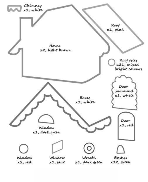 Molde de casa de jengibre buscar con google casita de for Casa jengibre