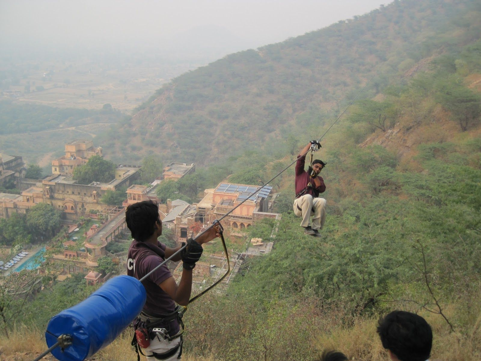 Zip Line Over The Neemrana Fort Palace At Flying Fox Neemrana Flyingfoxzip Flyingfoxneemrana Http Flyingfox Asia One Day Trip Ziplining Day Trip