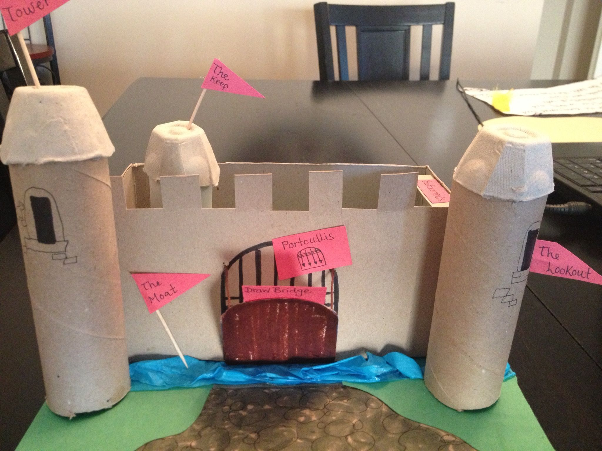 how to make a toy castle from recycled materials