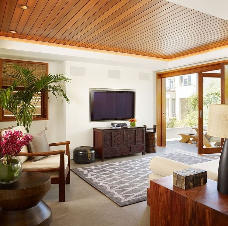 Manhattan Beach Residence By Rockefeller Partners Architects Homeadore Wooden Ceiling Design False Ceiling Living Room Ceiling Design