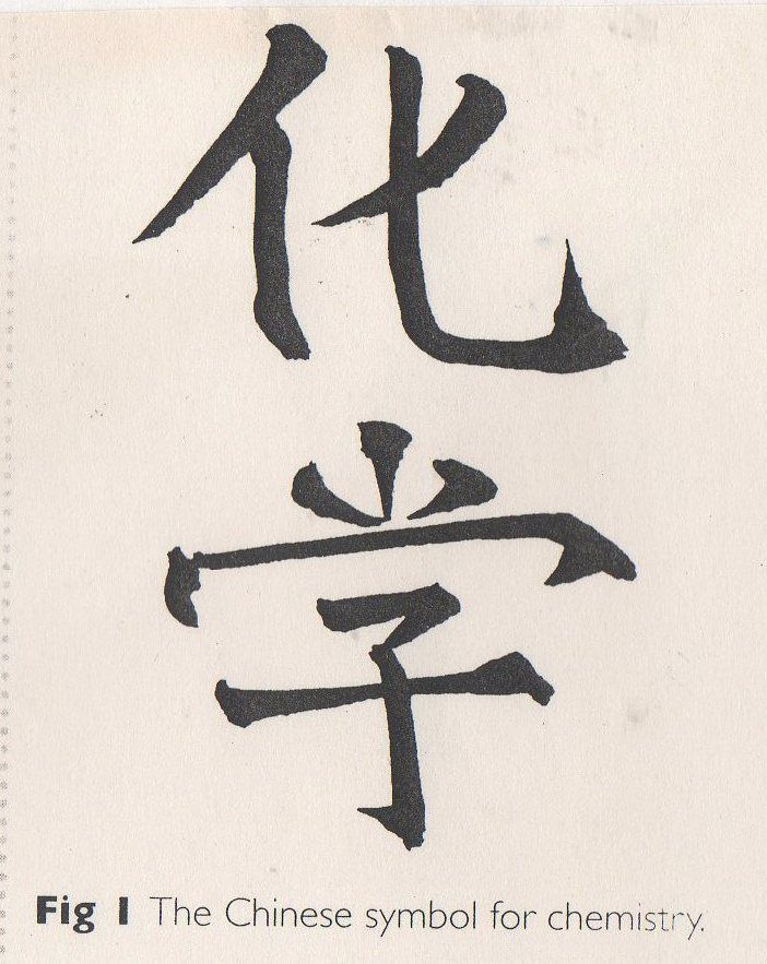 The Chinese Ideograph For Chemistry Literally Means Change Study