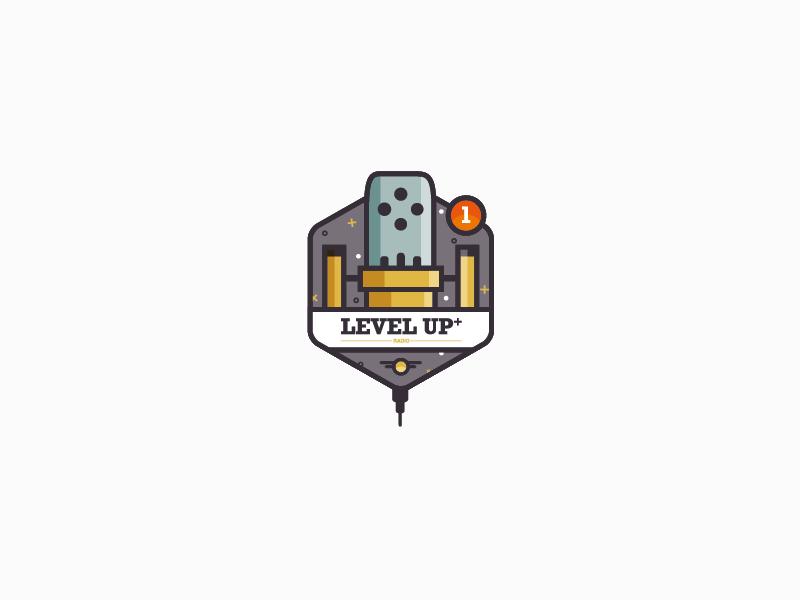 Level Up Level Up Mic Logo Logo Design
