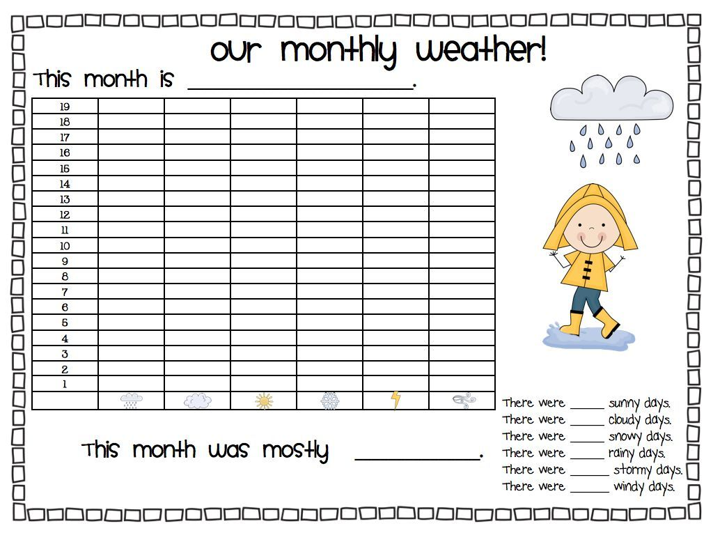 Daily Weather! First grade weather, Daily weather