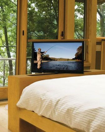 end of bed tv swivel lift