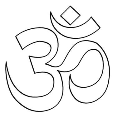symbol hinduism Colouring Pages