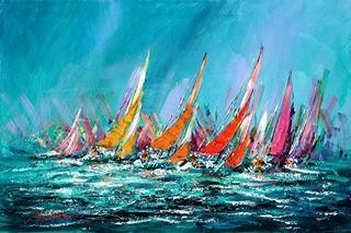 Kerry Hallam Peinture De Voilier Art Voilier Art Paysage