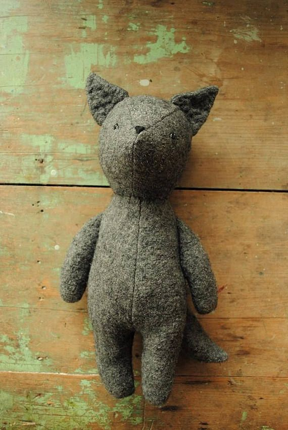 Fox and wolf stuffed animal doll sewing pattern / soft toy | Puppen ...