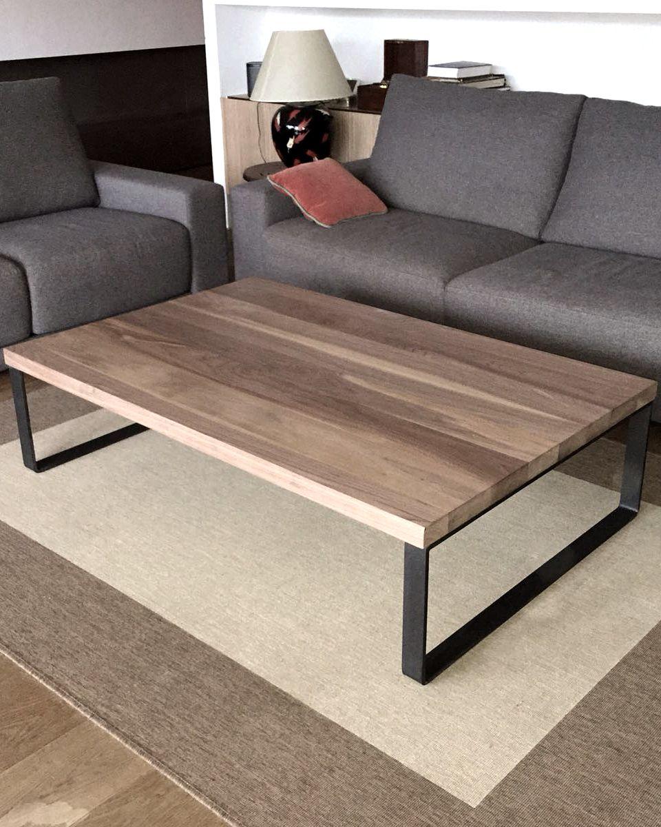 Mesa de centro en nogal americano nogal madera - Nogal americano muebles ...