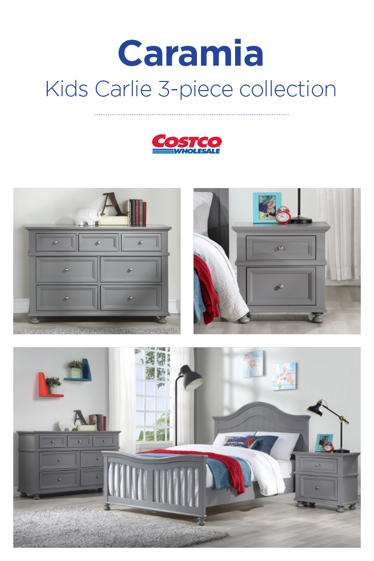 Caramia Kids Carlie Collection Is Classically Styled With Tremendous Appeal And Is Offered In A Solid Pebble Grey F Kids Bedroom Sets Bedroom Sets Kids Bedroom