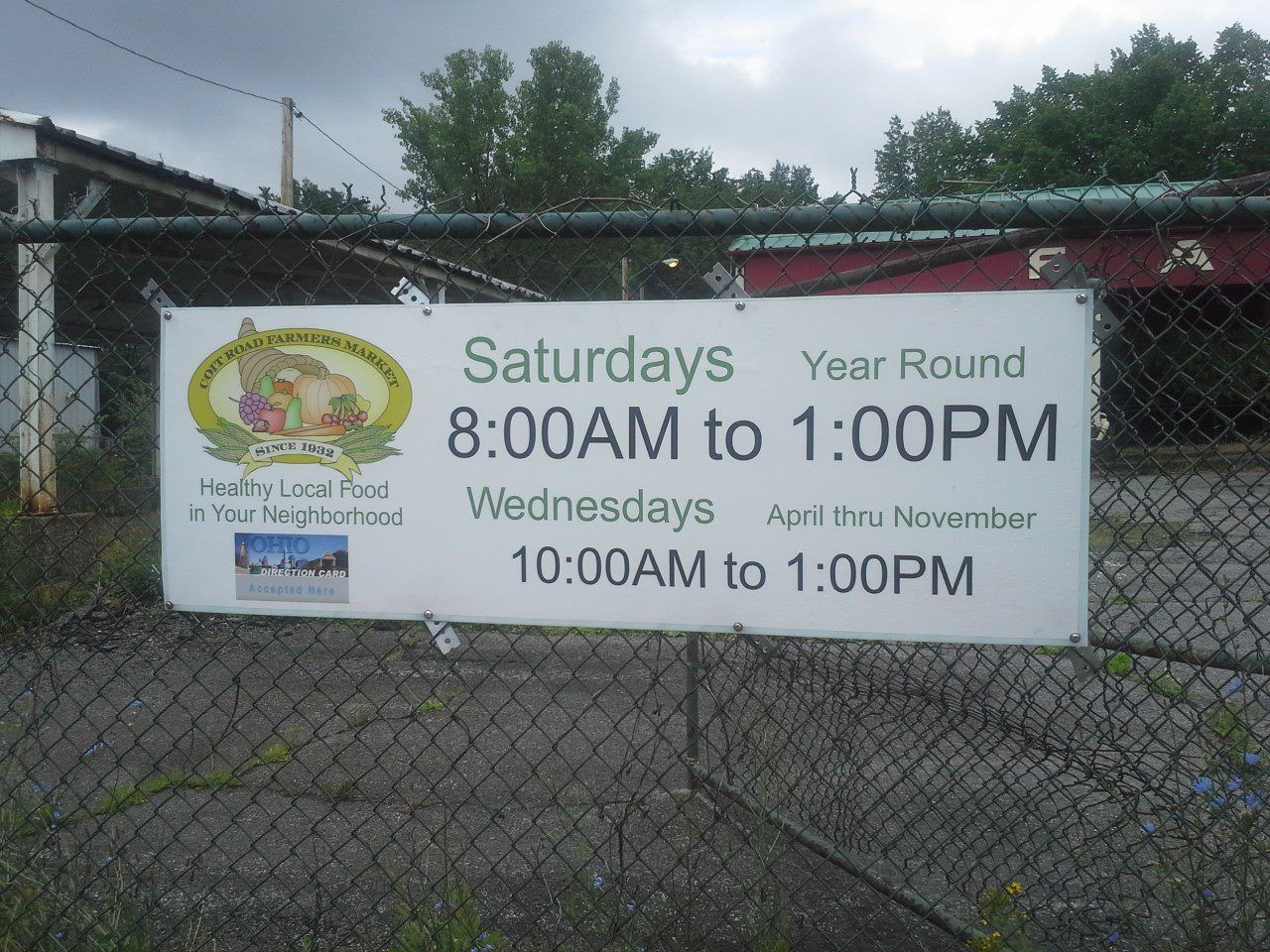 Coit Road Farmers' Market Sign