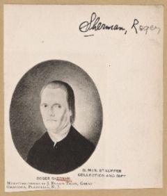 digitalgallery.nypl.org  Image ID: 3979568  Roger Sherman. Miniature owned by J. Evarts Tracy, great grandson, Plainfield, N.J.