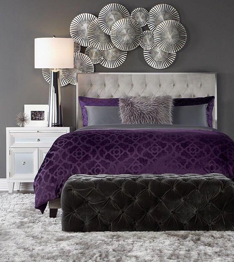 Pin By Mary Cameron Vivio On House Decor Purple Bedroom Decor
