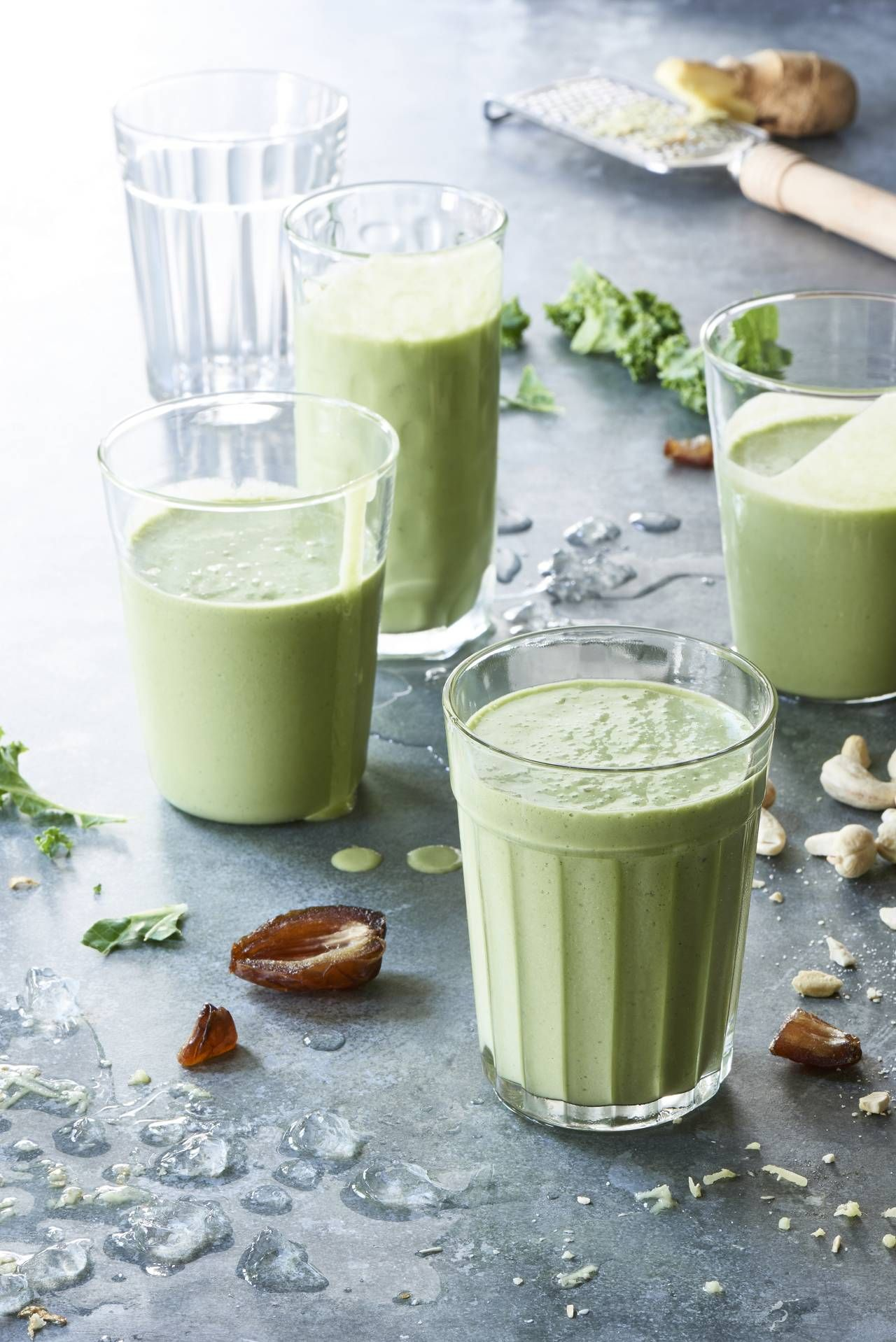 Tastes-Like-Ice-Cream Kale Green Smoothie - This is the famous tastes like ice cream kale smoothie from The Blender Girl cookbook and The Blender Girl Smoothies app.
