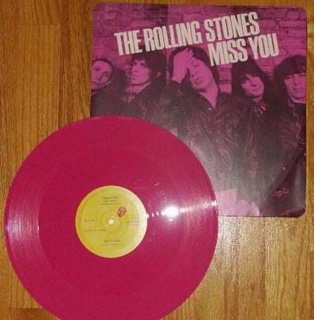Rolling Stones - Miss You and Far Away Eyes pink vinyl