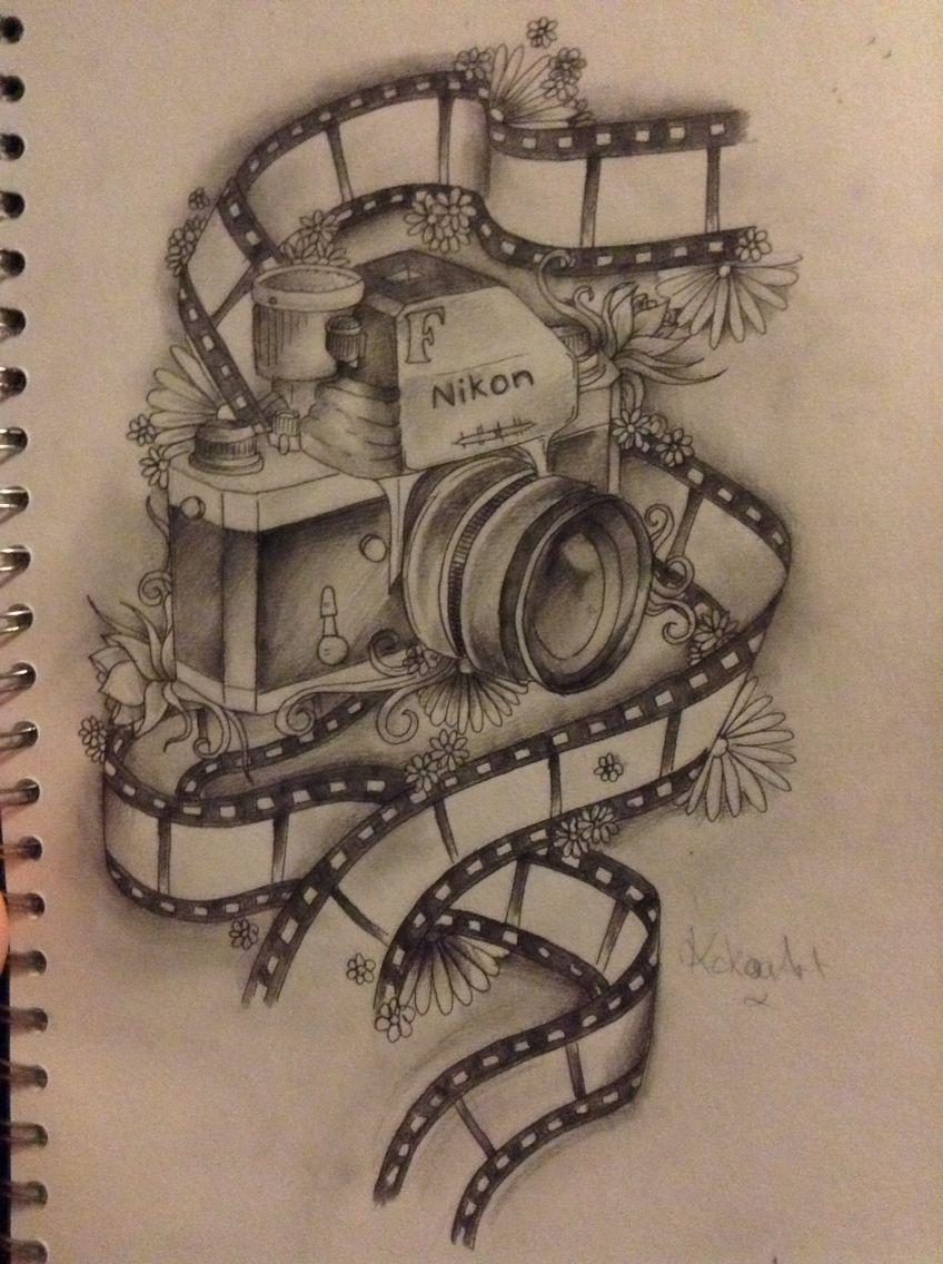 Mens Inner Forearm Wanderlust Sketched Camera Tattoo Designs ...